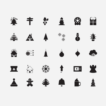 30 Christmas Vector Icons - бесплатный vector #202099