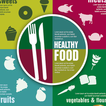 Healthy Food Infographic Vector - vector #202109 gratis
