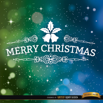 Space Bokeh Merry Christmas Vector Background - Free vector #202139
