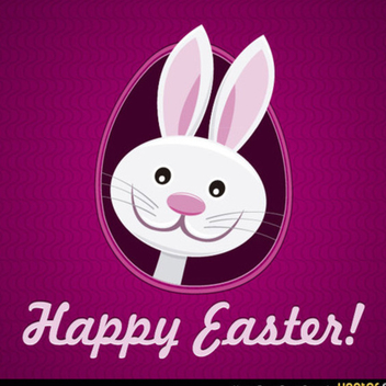 Free Happy Easter Bunny Vector - vector gratuit #202439