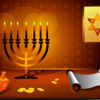 Free Vector Hanukkah Design - Free vector #202469
