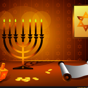 Free Vector Hanukkah Design - vector #202469 gratis