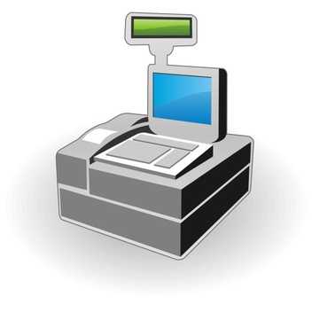 Free Vector Cash Register Icon - Kostenloses vector #202689