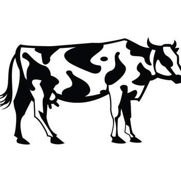 Cow Vector Clip Art - бесплатный vector #202779