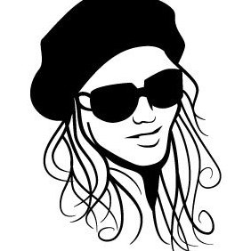 Beautiful Girl With Hat Vector - Free vector #203019