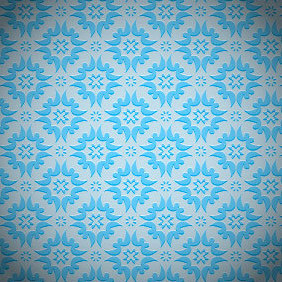 Blue Seamless Background Pattern - Free vector #203039