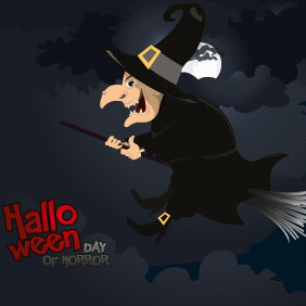 Halloween Witch Vector - Free vector #203049