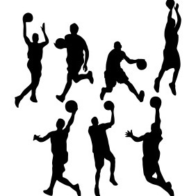 Basketball Silhouettes - Free vector #203149