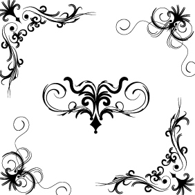 Floral Vector Set 150 - Free vector #203169
