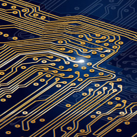 Circuit Board Background - Free vector #203199