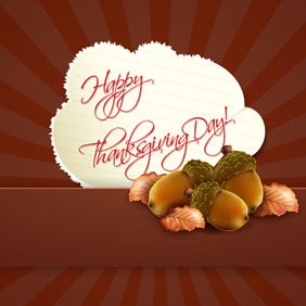 Happy Thanksgiving Day Vector - Kostenloses vector #203259