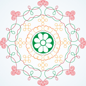 Indian Pattern - vector gratuit #203349
