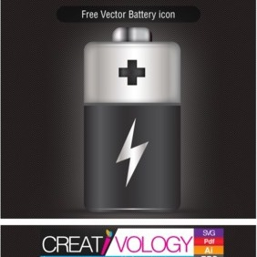 Free Vector Battery Icon - бесплатный vector #203409