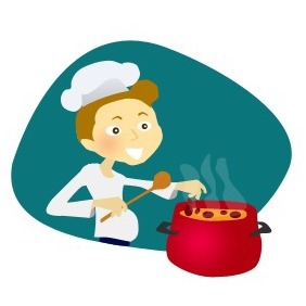 Cook With Pan - Free vector #203559