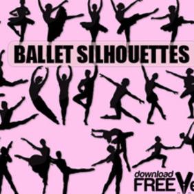 Vector Ballet Silhouette - Free vector #203699