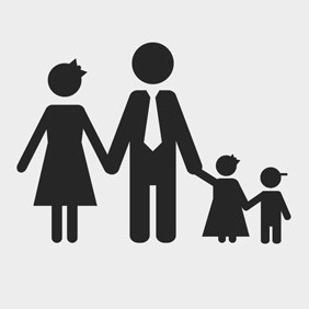 Free Vector Of The Day#95: Family Silhouette - vector #203849 gratis
