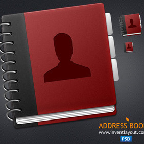 Address Book Icon PSD - Free vector #203969