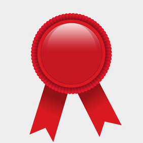 Free Vector Of The Day #79: Red Award Ribbon - Free vector #204039