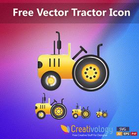 Free Vector Tractor Icon - vector #204189 gratis