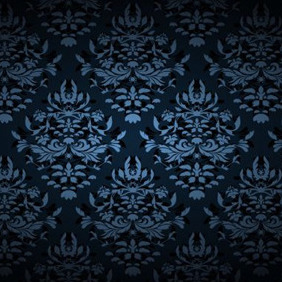 Ornaments In Dark Blue - Free vector #204249