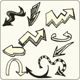 Doodle Arrows 6 - Free vector #204259