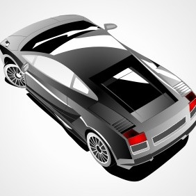 Lamborghini Gallardo Top View - vector gratuit #204279