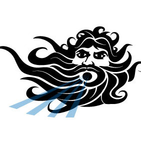 Greek God Of Sea Vector - Free vector #204449
