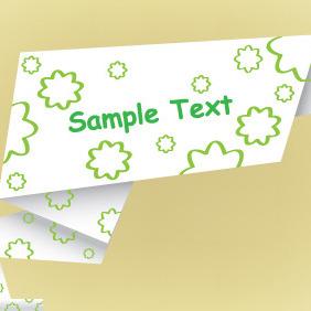 Origami Paper Banner Vector Free - vector #204539 gratis