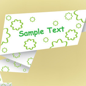 Origami Paper Banner Vector Free - Kostenloses vector #204539