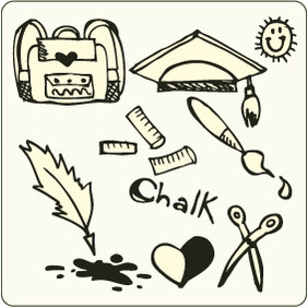 Doodle School 4 - Free vector #204589