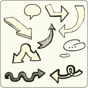 Doodle Arrows 9 - Free vector #204659