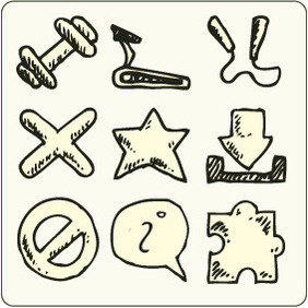 Doodle Icons 6 - Free vector #204769