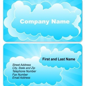 Business Card With Cloud - vector gratuit #205009