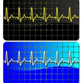 Electrocardiogram Business Card - vector gratuit #205049