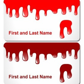 Bloody Business Card - vector #205069 gratis