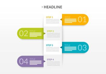 Paper Step Banners - vector #205129 gratis