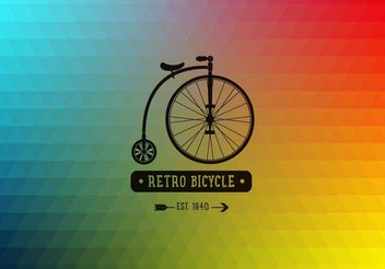 Retro Bicycle - vector gratuit #205159