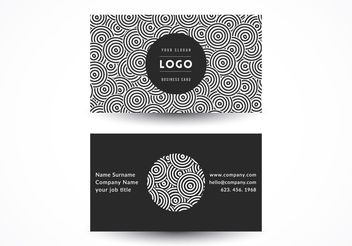Geometric Circles Business Card - vector #205169 gratis