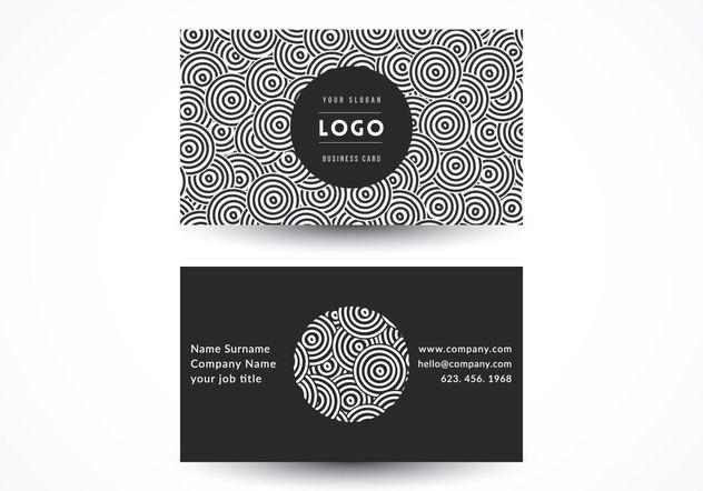 Geometric Circles Business Card - Free vector #205169