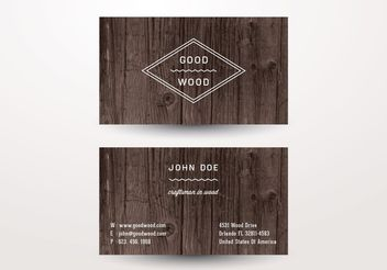 Wooden Business Card - бесплатный vector #205209