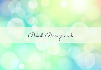 Elegant Bokeh Background Illustration - Free vector #205219