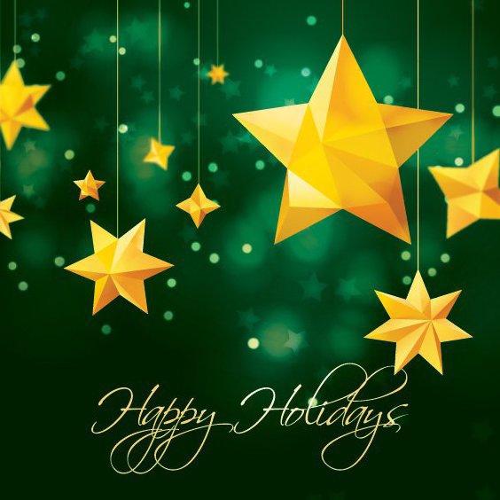 Christmas Stars - Free vector #205249
