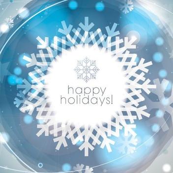 Snowflake Card - Kostenloses vector #205259