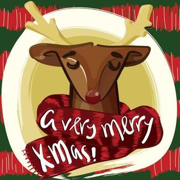 Reindeer - vector gratuit #205269