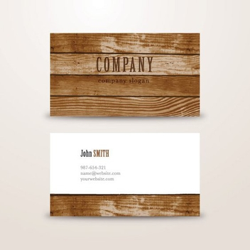 Wooden Background Business Card - vector gratuit #205349