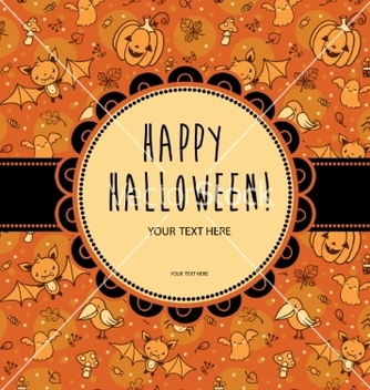 Free stylish halloween card in vector - бесплатный vector #205429