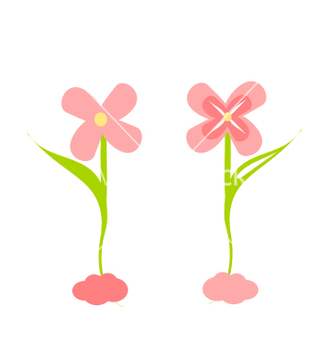 Free cute flower decoration set vector - бесплатный vector #205459