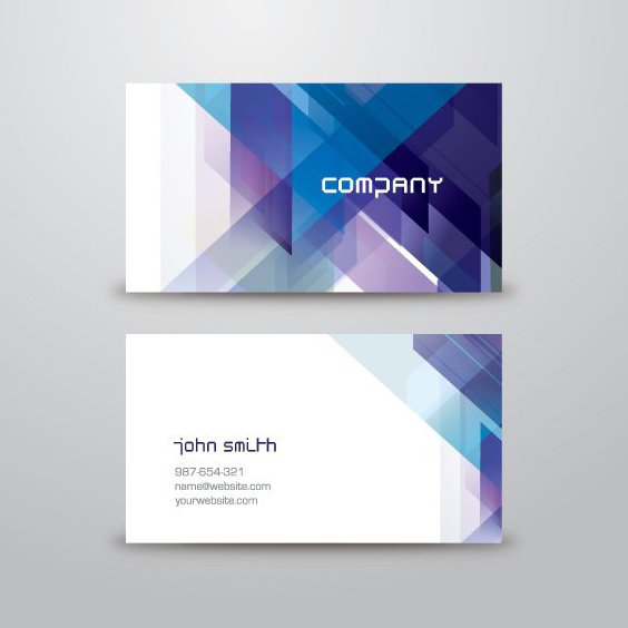 Abstrait bleu Business Card - vector gratuit(e) #205529
