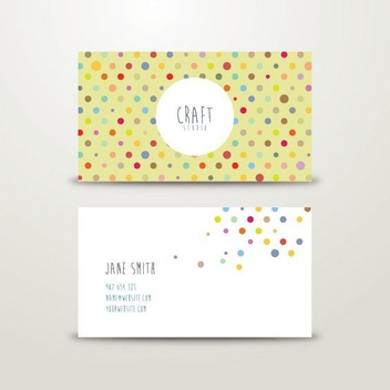Craft Business Card - vector gratuit #205669