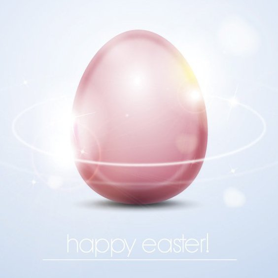 Shiny Easter Egg - Free vector #205749